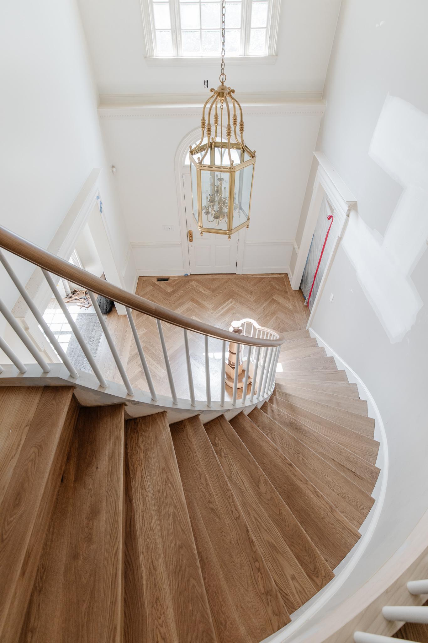 herringbone and staircase