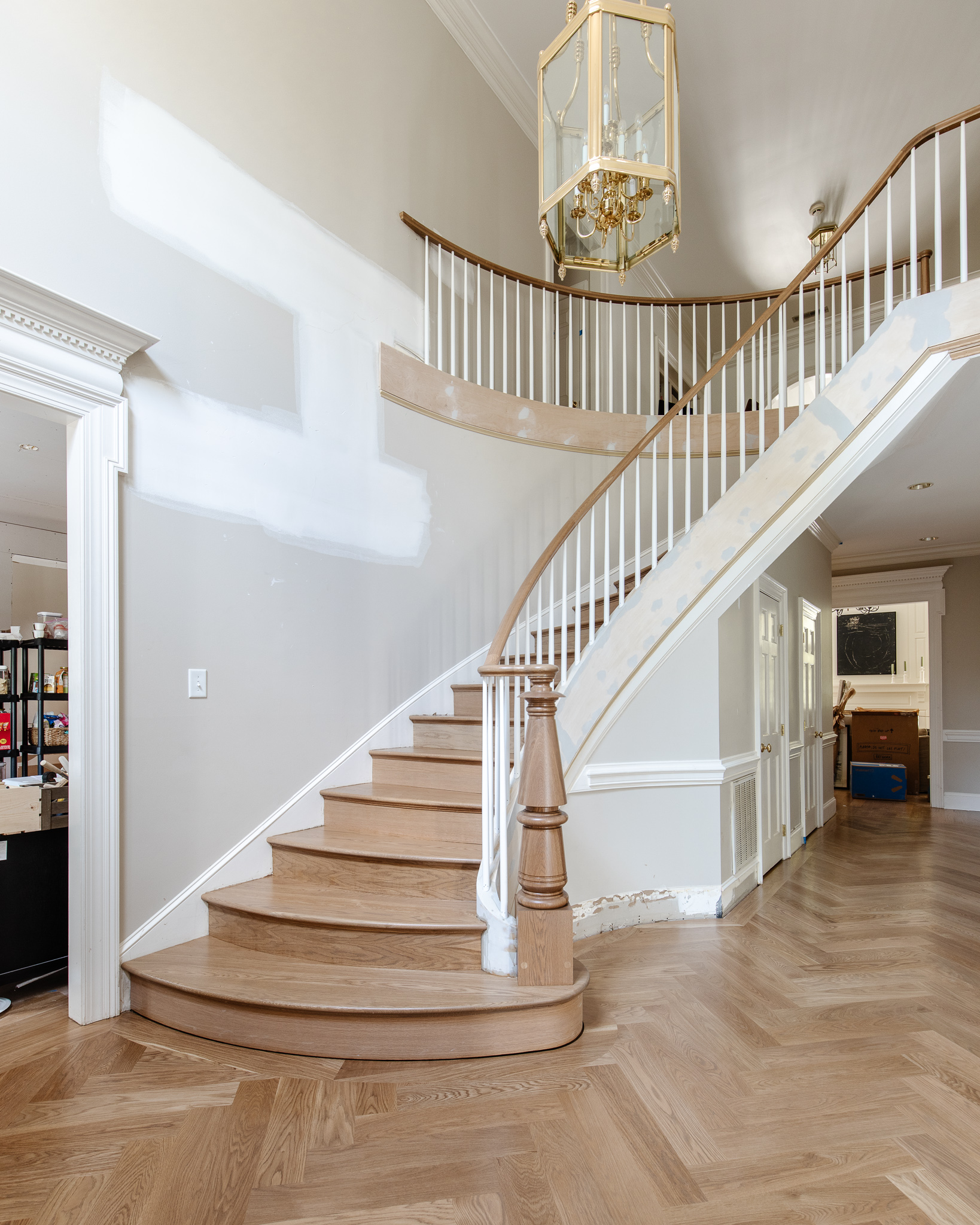 staircase and floors today