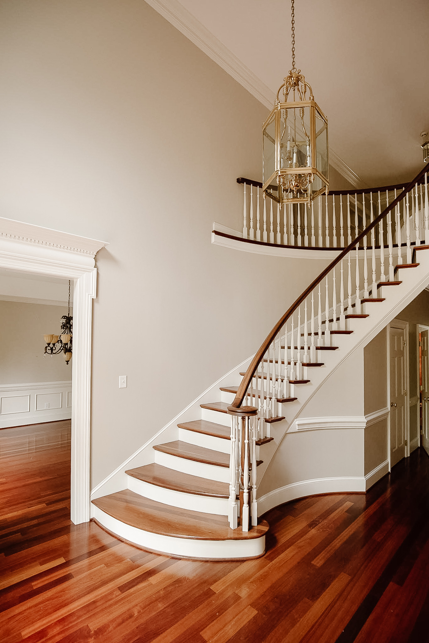 before of the staircase