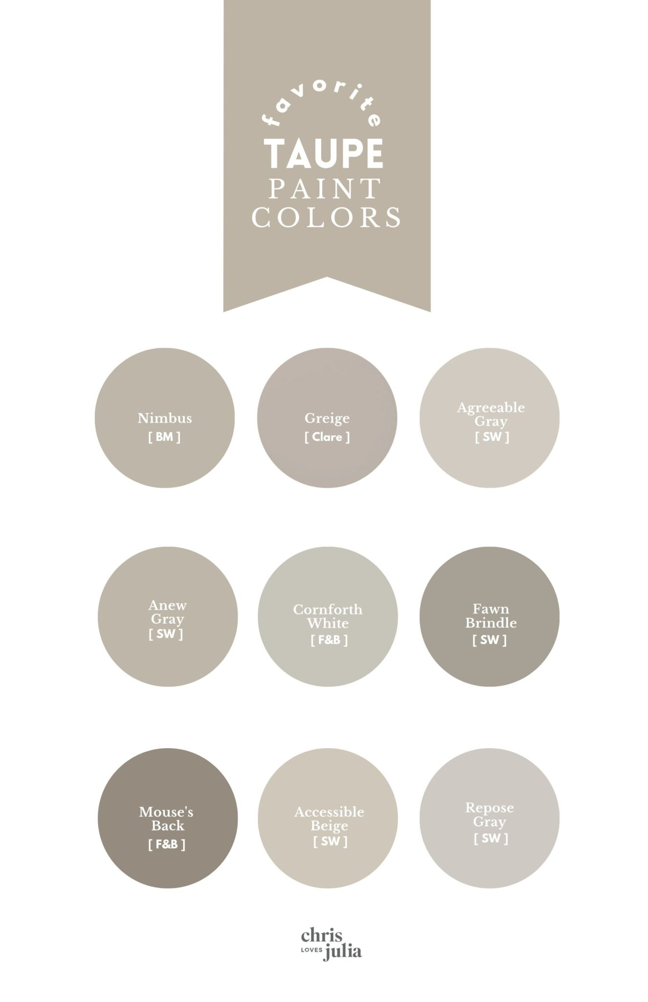 favorite taupe paint colors